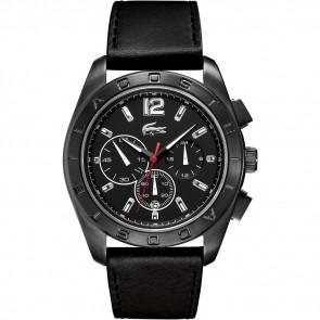 Cinturino per orologio Lacoste 2010609 / LC-53-1-34-2302 Pelle Nero 24mm