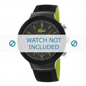 Lacoste cinturino dell'orologio 2010650 / LC-61-1-29-2347 Gomma Nero 16mm