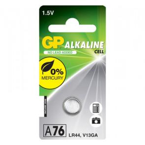 GP A76 - LR44 - V13GA 1,5V alkaline 11.6 mm x 5.4 mm