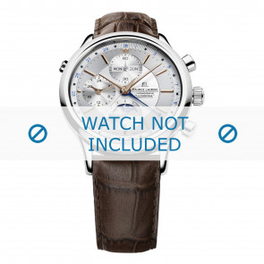 Cinturino per orologio Maurice Lacroix LC6078-SS001-131 / (# 800-000254) Pelle Marrone 20mm