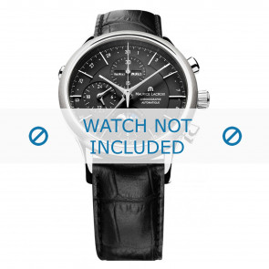 Cinturino per orologio Maurice Lacroix LC6078-SS001-331 / 800-000242 Pelle Nero 20mm