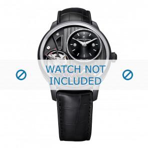 Maurice Lacroix cinturino dell'orologio MP6118-PVB01-330 Pelle Nero + cuciture nero