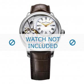 Maurice Lacroix cinturino dell'orologio MP6118-SS001-112-2 Pelle di coccodrillo Marrone + cuciture marrone
