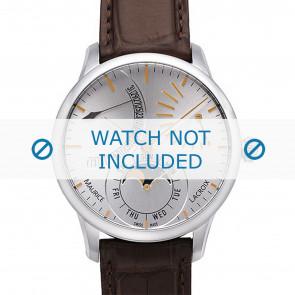 Maurice Lacroix cinturino dell'orologio MP6528-SS001-130 Pelle di coccodrillo Marrone + cuciture marrone