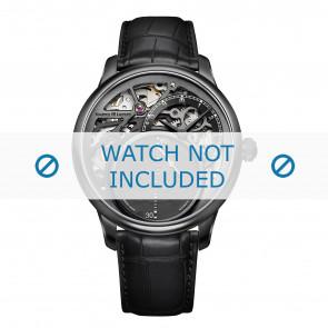 Maurice Lacroix cinturino dell'orologio MP6558-PVB01-092 Pelle di coccodrillo Nero + cuciture nero