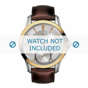 Maurice Lacroix cinturino dell'orologio  PT7518-PS101-130 Pelle Marrone + cuciture marrone