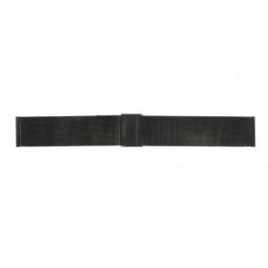 Cinturino per orologio WoW MESH-22.1.5BL Acciaio Nero 22mm
