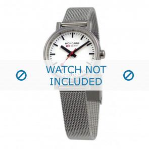Mondaine cinturino dell'orologio A658.30301.11SBV / BM20037 / 30301 / EVO 26 Metallo Argento 12mm
