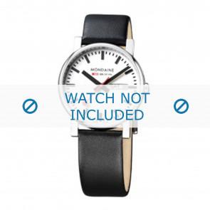 Mondaine cinturino dell'orologio A667.30344.11SBB Pelle Nero 20mm