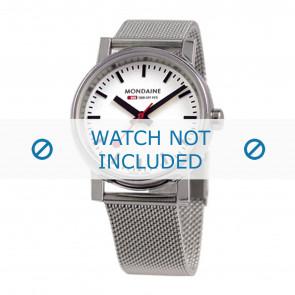 Mondaine cinturino dell'orologio BM20126 / BM20038 / 30300 / 30314 / Classic 36 / Evo 35  Metallo Argento 18mm