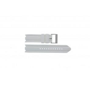Cinturino per orologio Nautica A14608G / A16603G Gomma Bianco 22mm