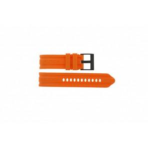 Cinturino per orologio Nautica A17586G Gomma Arancione 24mm