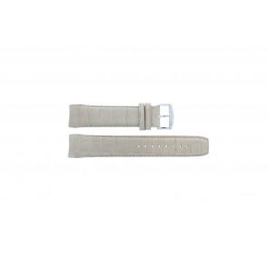 Zodiac cinturino dell'orologio ZO2702 Pelle di coccodrillo Beige 18mm + cuciture di default