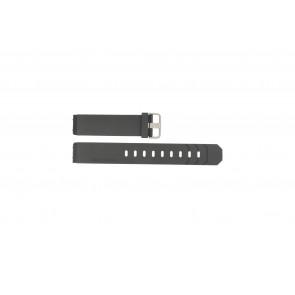 Jacob Jensen cinturino dell'orologio 600 / 800 / 601 / 602 Gomma Nero 19mm
