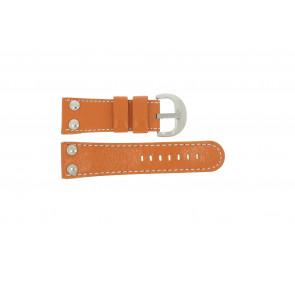 Cinturino per orologio Universale OVR-ORANJE-28MM Pelle Arancione 28mm