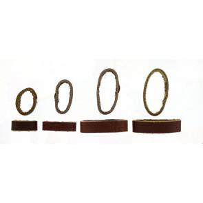 Passante di Cinturino orologio in pelle, marrone, 10mm