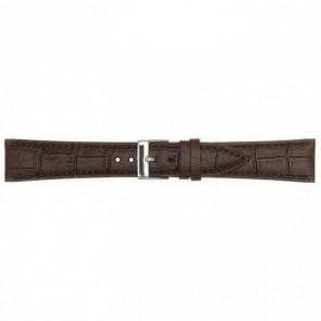 Cinturino orologio in pelle, marrone scuro, 18mm PVK-497
