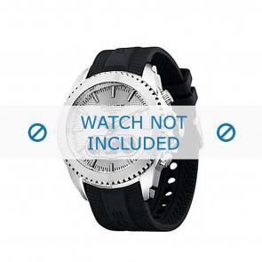 Police cinturino dell'orologio P-12076J/JSTB/01 Gomma / plastica Nero
