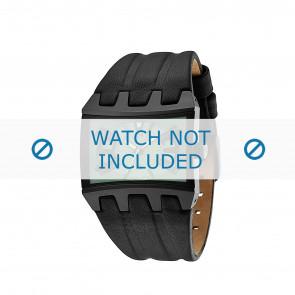 Police cinturino dell'orologio 13420JS-05B Pelle Nero