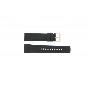 Cinturino per orologio Pulsar W861-X006 / PQ2046X1 / PP255X Gomma Nero 24mm