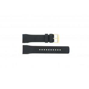 Pulsar cinturino dell'orologio W861-X006 / PQ2048X1 / PP256X Gomma Nero 24mm
