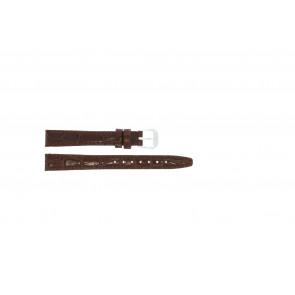 Cinturino orologio in pelle di coccodrillo, laccato, marrone, 14mm 082