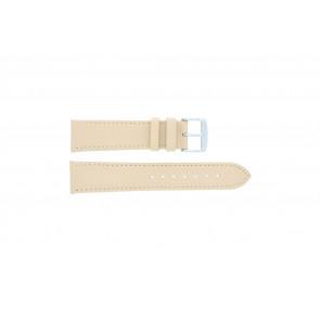 Cinturino orologio in vera pelle, color salmone / ocra, 24mm 283