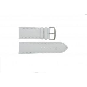 Cinturino orologio in vera pelle, bianco, 32mm