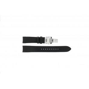 Seiko cinturino orologio 7D46-0AB0 Pelle Nero 20mm
