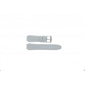Cinturino per orologio Seiko 7T92-0HD0 / SND875P1 / 4LE7JB Pelle Bianco 16mm