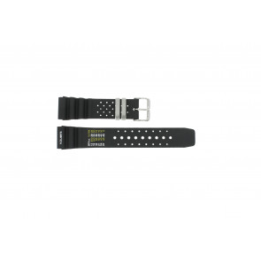Cinturino per orologio Universale SIL-8136-PST-NR85 Gomma Nero 22mm