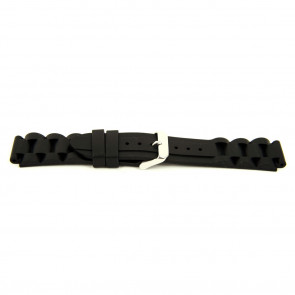 Cinturino orologio Gomma 24mm Nero EX K63 26 1 24