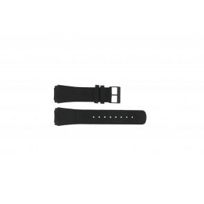 Skagen cinturino orologio 856XLBLB / 856XLBLN Pelle di coccodrillo Nero 24mm