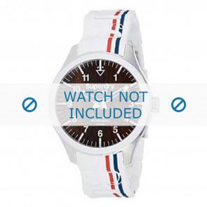 Superdry cinturino dell'orologio SYG185W Silicone Bianco