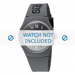 Superdry cinturino dell'orologio SYG198EE Plastica Grigio