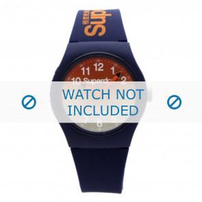 Superdry cinturino dell'orologio SYG198UO Plastica Blu