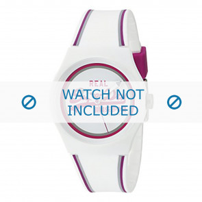 Superdry cinturino dell'orologio SYG198WR Plastica Bianco