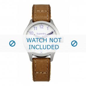 Superdry cinturino dell'orologio SYL114TV Pelle Marrone + cuciture marrone