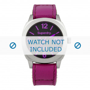 Superdry cinturino dell'orologio SYL115V Pelle Rosa + cuciture di default