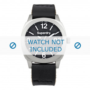 Cinturino per orologio Superdry SYL116B Pelle Nero 20mm