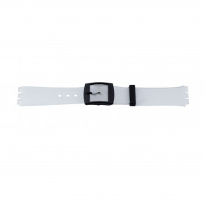 Cinturino per orologio Swatch 51.00 Gomma Bianco 17mm