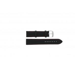 Tissot cinturino dell'orologio T049.417 - T600031360 / T038.430 / T049.410 / T033.410 / T71.3.633 / T71.3.623 / T033.423 Pelle Nero 19mm + cuciture rosso
