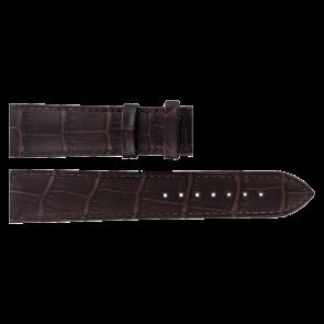 Tissot cinturino dell'orologio T063.610.36.038.00 Pelle Marrone scuro 20mm + cuciture marrone