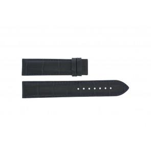 Tissot cinturino dell'orologio T055.417.16.047.00 - T610032786 / T055.410.16.047.00 Pelle di coccodrillo Blu 19mm + cuciture nero