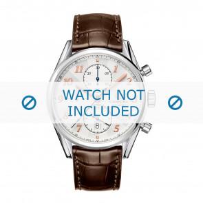 Tag Heuer cinturino dell'orologio CAR2150.FC6291 / CAR2110 / CAR2110 / WAR5011 / CAS2111 / CAS2111 / CAS2150 / CV2013 / WAR201B / WAR201C / WAR201D / WAR5012 Pelle Marrone 20mm + cuciture marrone
