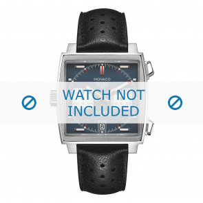 Cinturino per orologio Tag Heuer CAW211P.FC6356 Pelle Nero