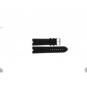 Tommy Hilfiger cinturino dell'orologio TH-38-1-14-0686 ALT 307.01 Pelle Nero 24mm + cuciture bianco