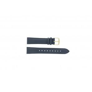 Timex cinturino orologio PW2P63400 Pelle Blu scuro 18mm