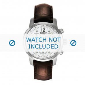 Tissot cinturino dell'orologio T361.461 PRC-200 - T600013367 Pelle di coccodrillo Marrone 19mm + cuciture marrone