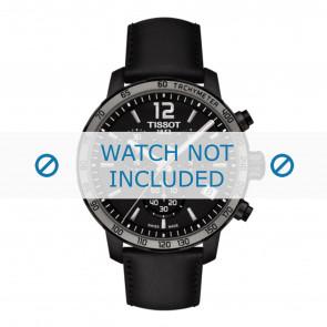 Tissot cinturino dell'orologio T095.417.36.057.02 - T600035372 Pelle Nero 19mm